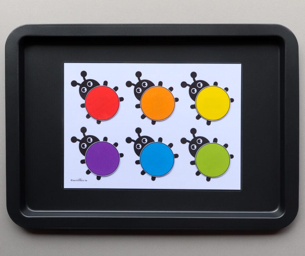 Kleurenspel thema lieveheersbeestjes - leerbubbels