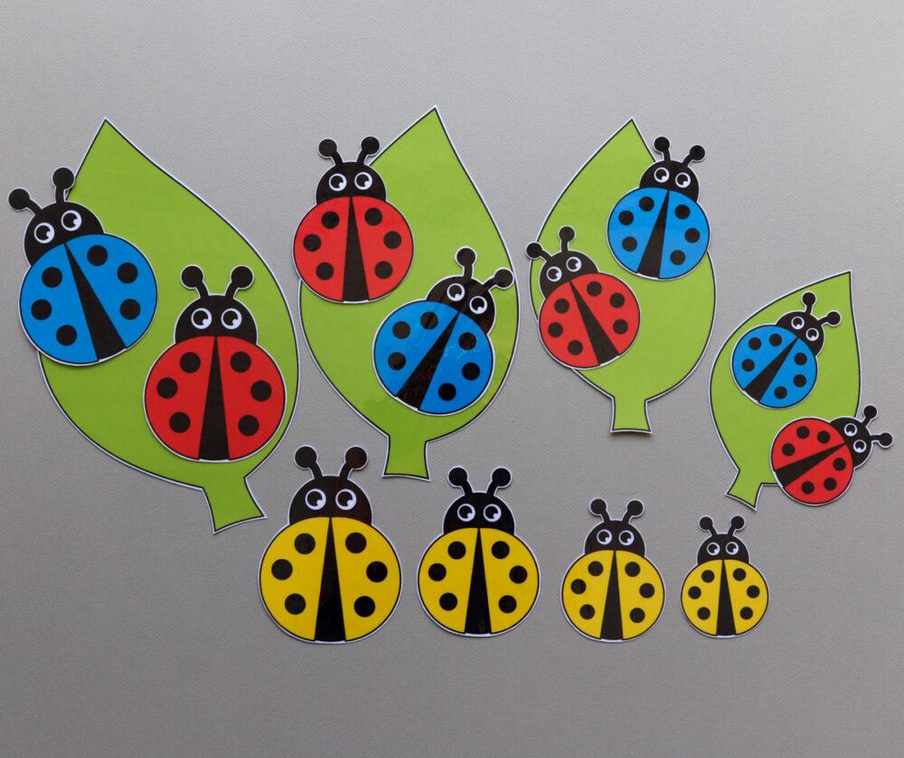 Logikaarten thema lieveheersbeestjes - leerbubbels
