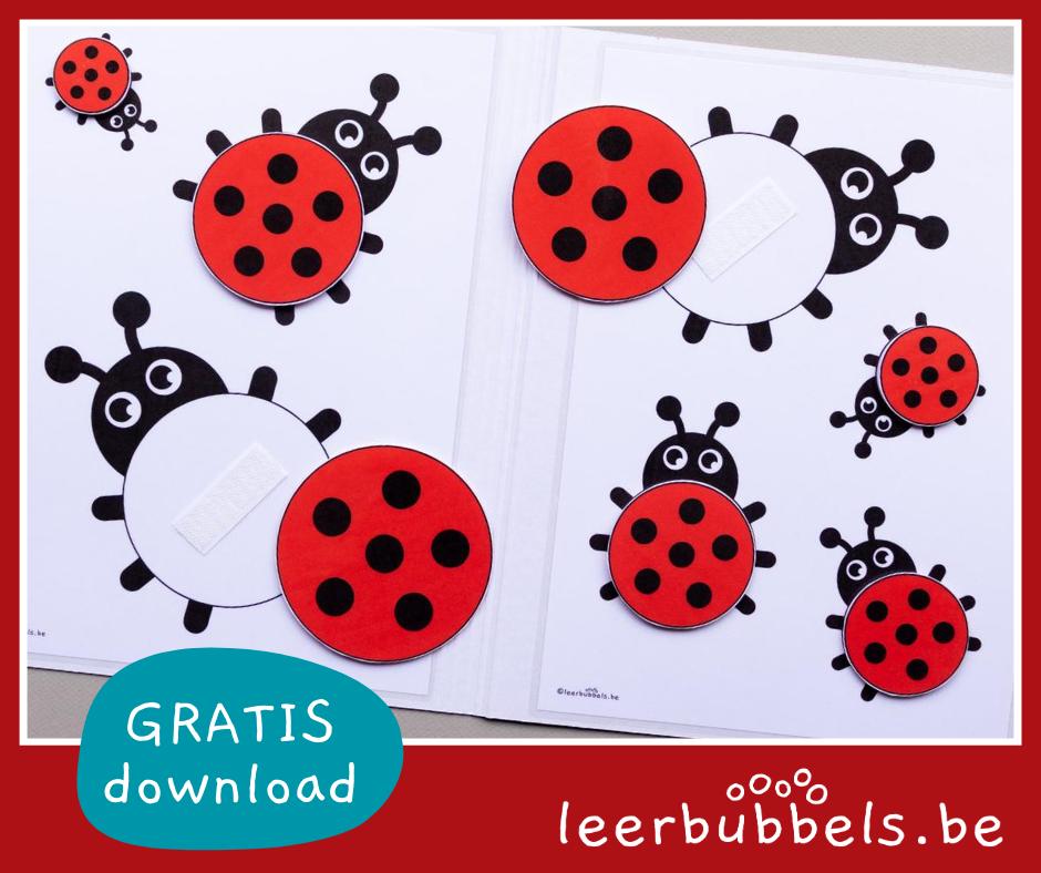 Leermateriaal voor het kleuteronderwijs - thema lieveheersbeestjes