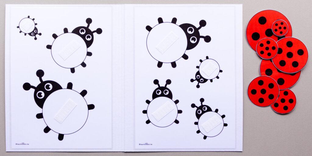 Didactisch materiaal voor kleuters - meetmap lieveheersbeestjes 01