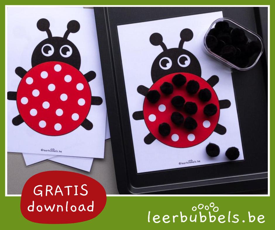 Leermateriaal kleuteronderwijs - thema lieveheersbeestjes