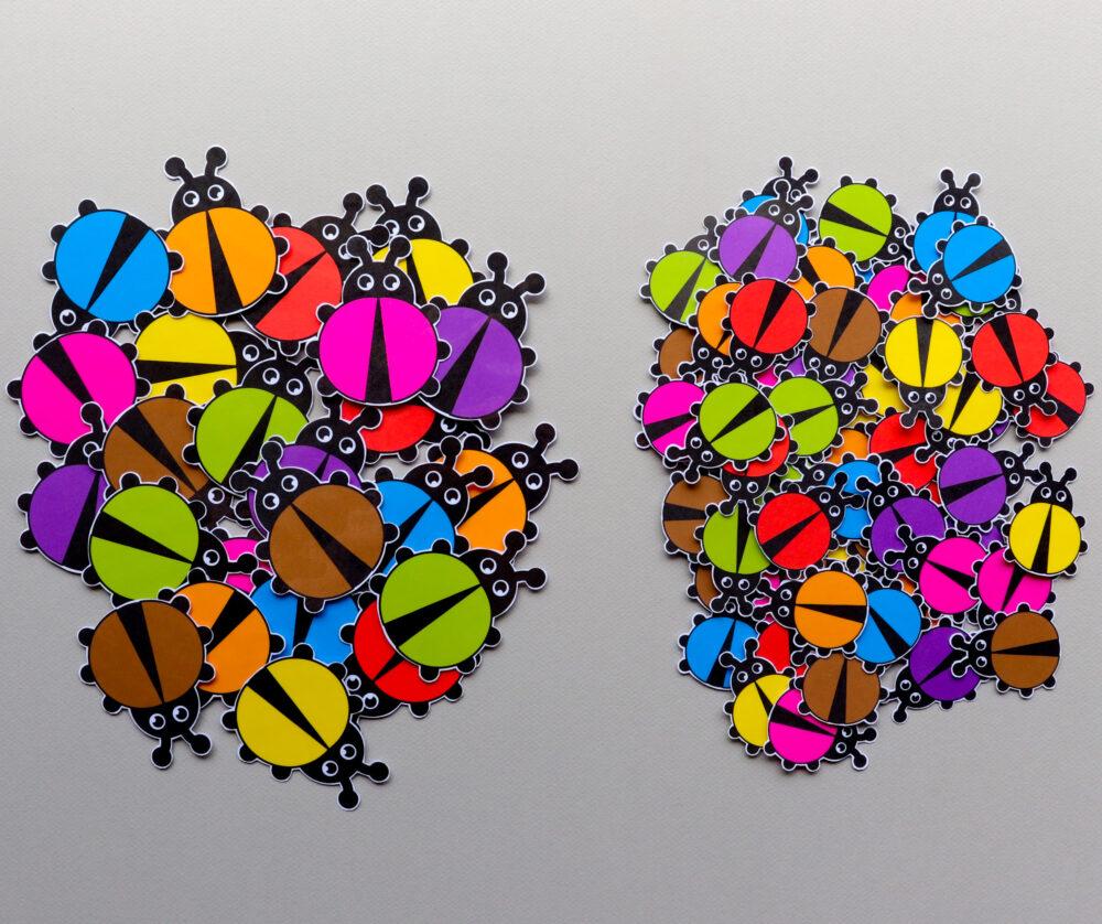 Telboek thema lieveheersbeestjes - leerbubbels