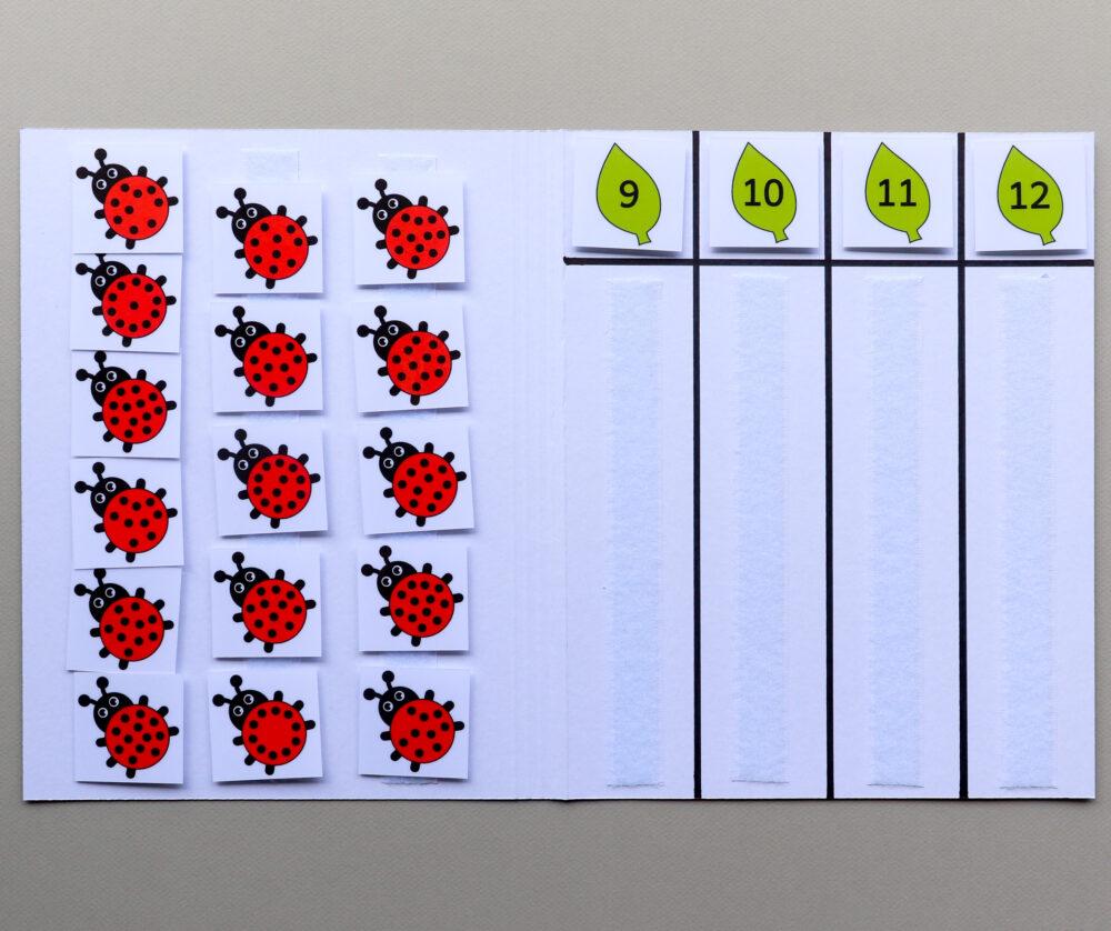 Telmap thema lieveheersbeestjes - leerbubbels