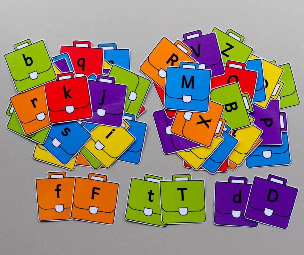 Letterkaartjes boekentas