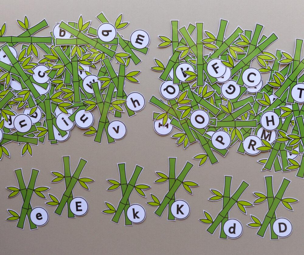 Letterkaartjes bamboetakken - leerbubbels