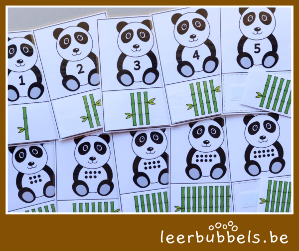 Telkaarten pandaberen - leerbubbels
