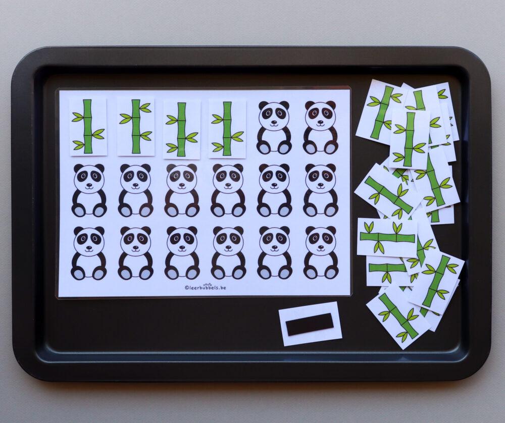 Telspel pandabeer - leerbubbels