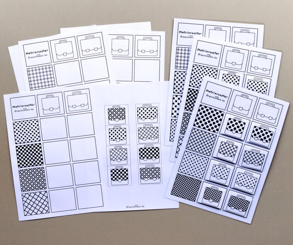 Matrixroosters patronen boekentas