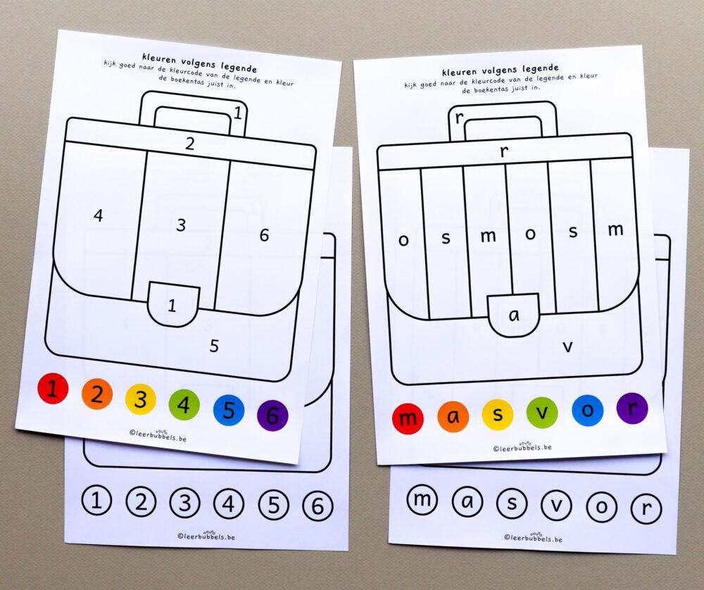 Kleuren volgens legende boekentas