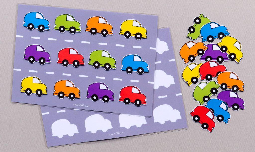 Foutloze taakjes thema auto's