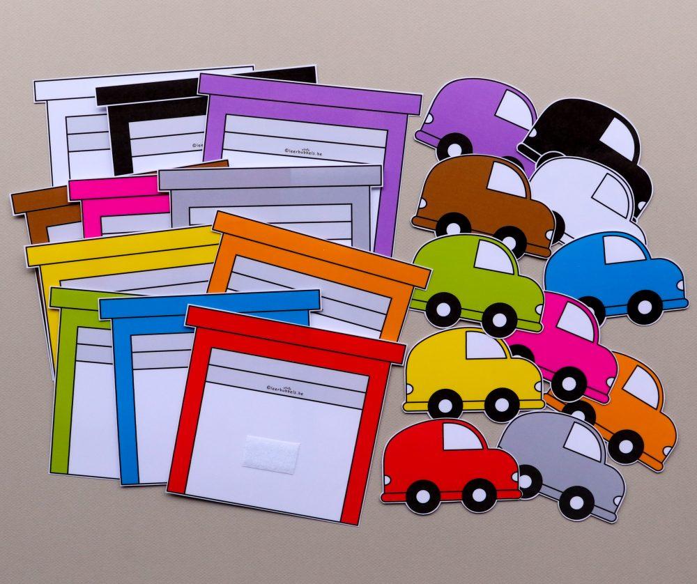 Matchkaarten kleuren auto's & garages