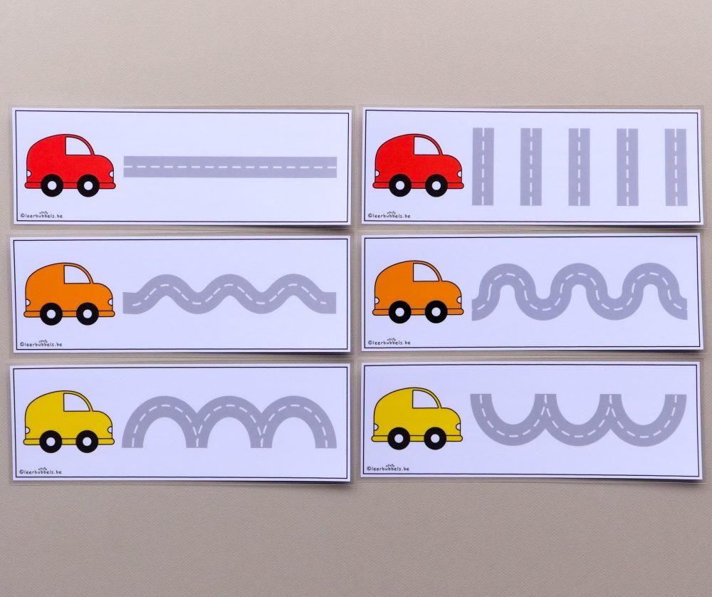 Schrijfkaarten autobanen