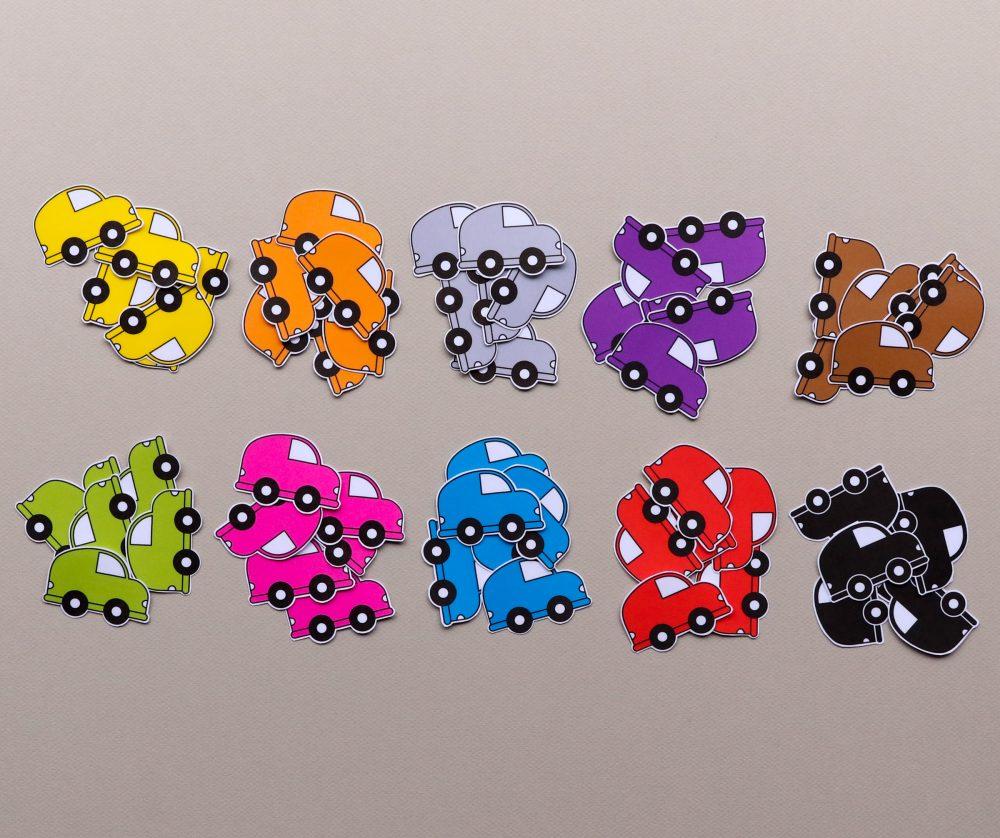 Auto's 10 kleuren - sorteerspel