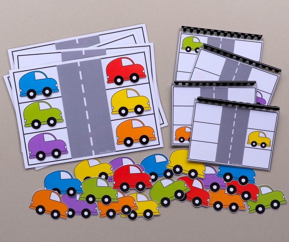 Topologie met stappenplannen thema auto's