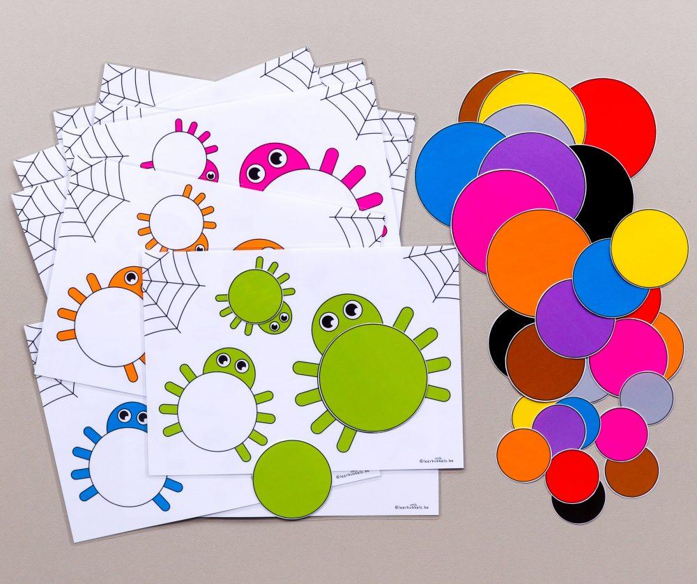 Meet en kleurenspel jongste kleuters