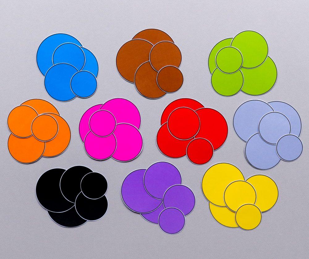 Kleurschijfjes voor meet en kleurenspel