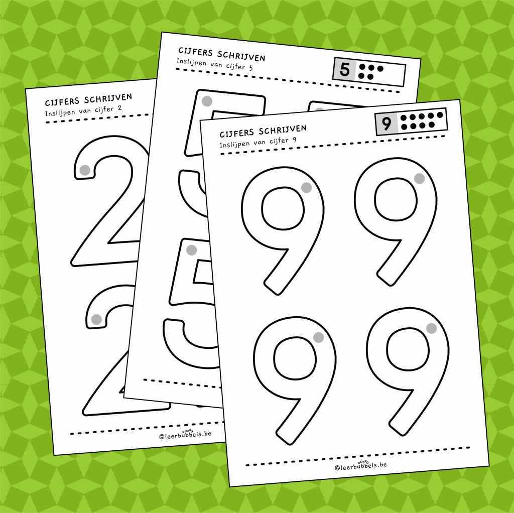 Werkbladen cijfers inslijpen versie 2
