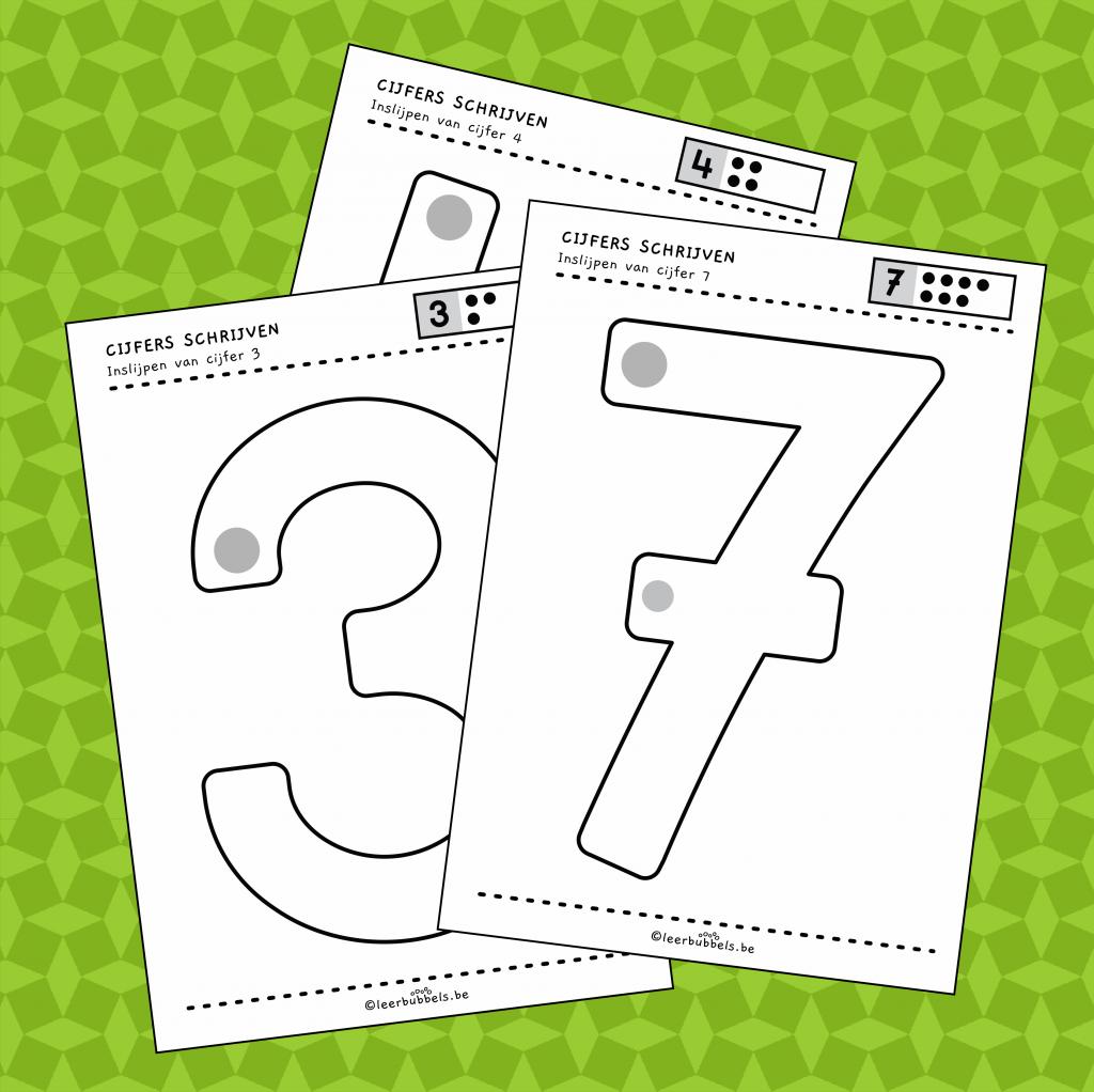 Werkbladen cijfers inslijpen