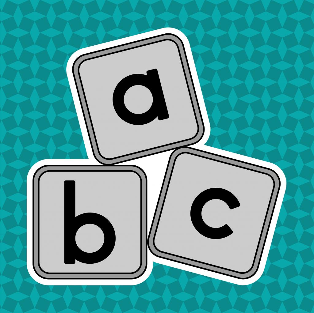 Spelen met letters. Leesbubbels van leerbubbels
