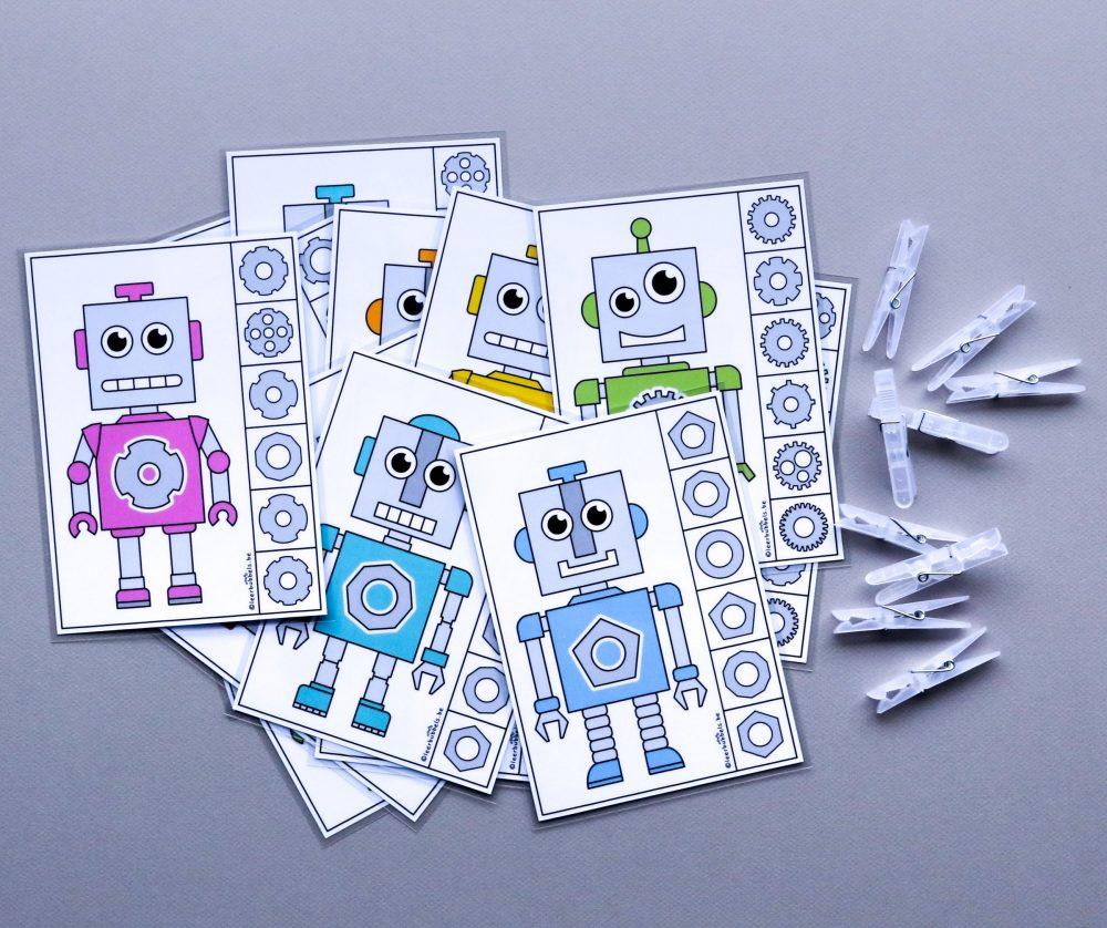 Knijpkaarten thema robot