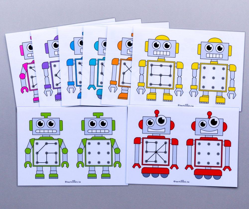 Raamfiguren thema robot