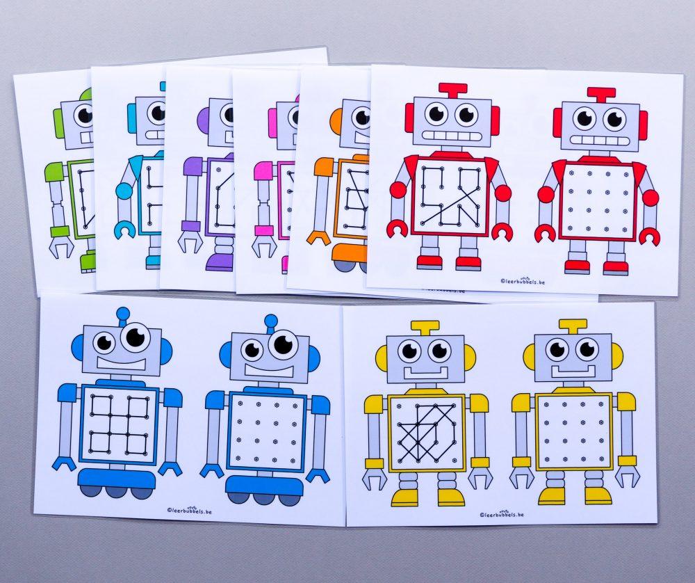 Raamfiguren in het thema robot