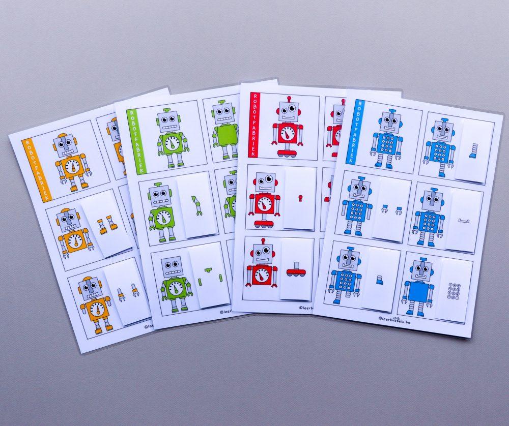Opdrachtkaarten visuele waarneming in het thema robot
