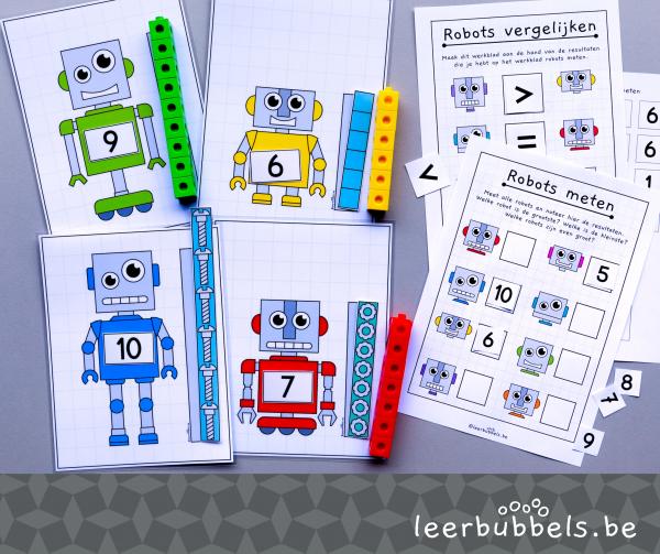 Meetkaarten thema robot