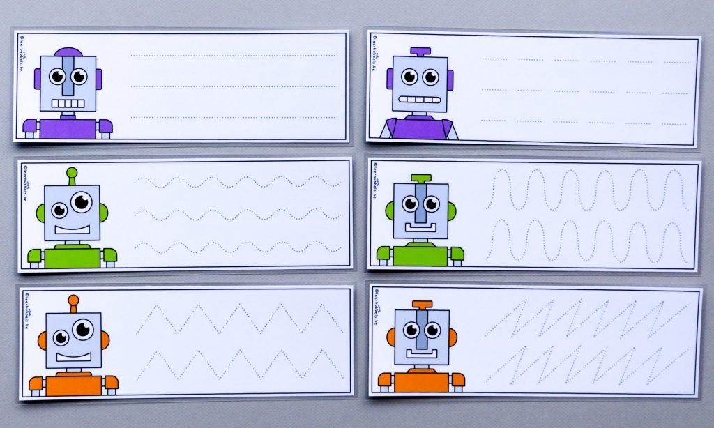 Voorbereidend schrijven thema robot