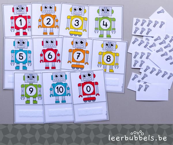 Telkaarten tot 10 robots