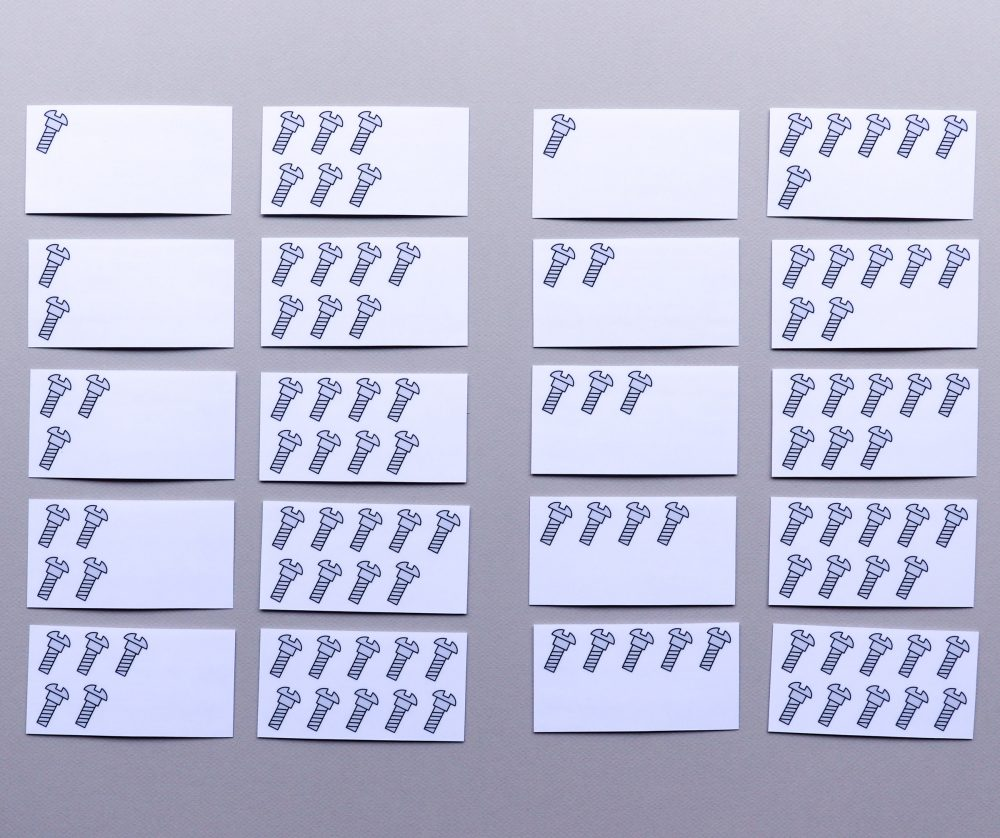 Getalbeeldenkaartjes, kwadraatgetalbeelden, getalbeelden ijsbergrekenen
