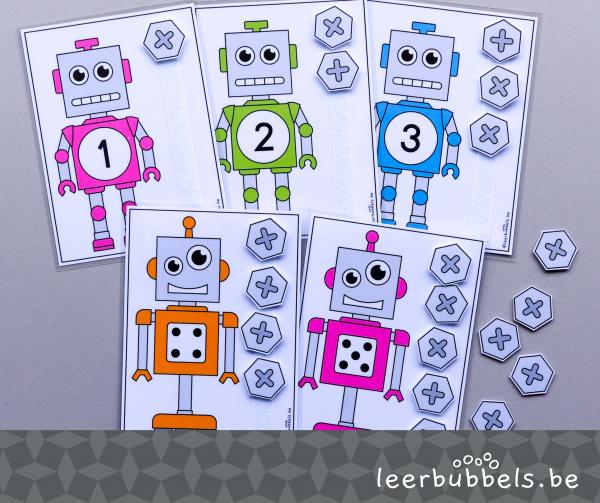 Telkaarten tot 5 thema robots