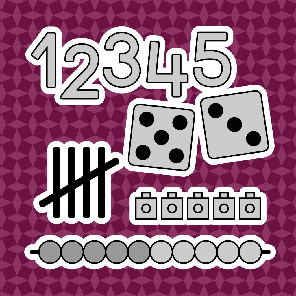 Lesmaterialen voor kleuters rond cijfers en getalbeelden