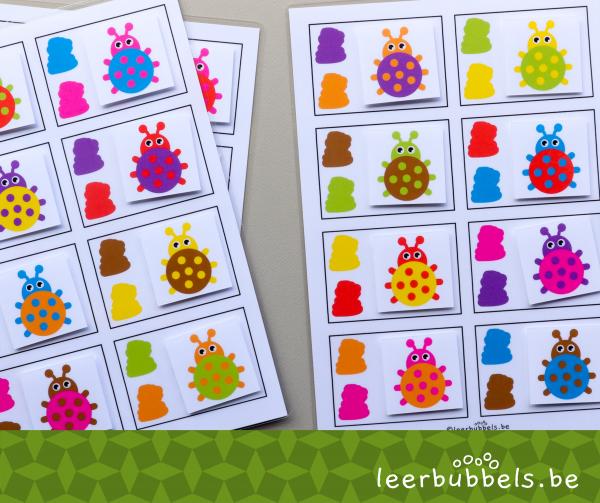 Oefenen op kleuren thema lieveheersbeestjes