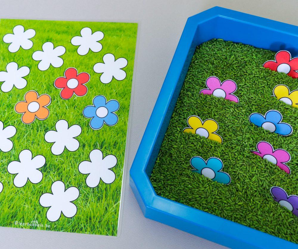 Foutloos taakje voor kleuters thema bloemen