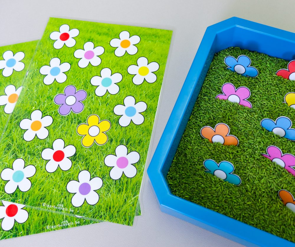 Bloemen zoeken en kleuren matchen
