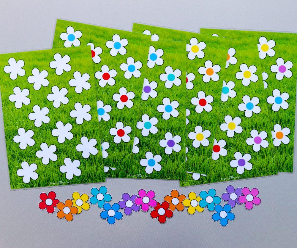 Van foutloos taakje naar werken naar opdracht thema bloemen - Leerbubbels