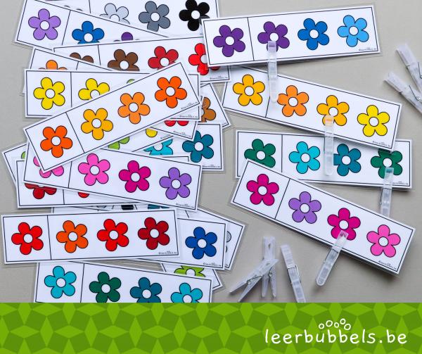 Knijpkaarten thema bloemen kleuren