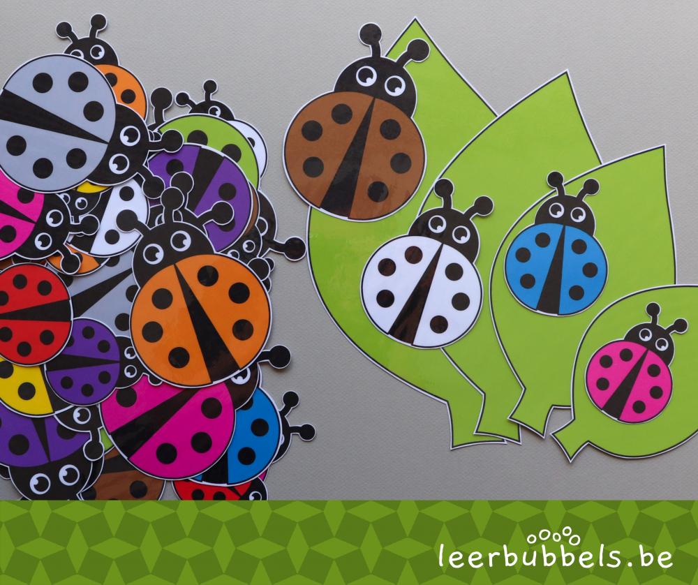 Logiset lieveheersbeestjes voor kleuters - leerbubbels