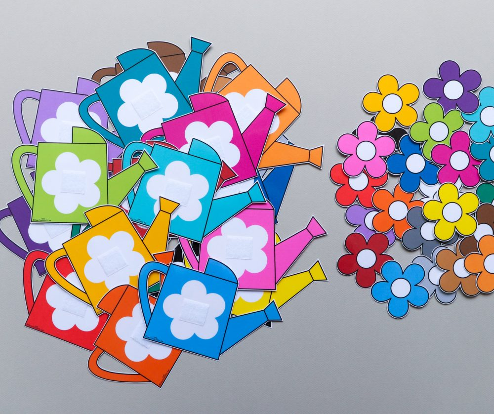 Matchkaarten voor kleuters thema bloemen