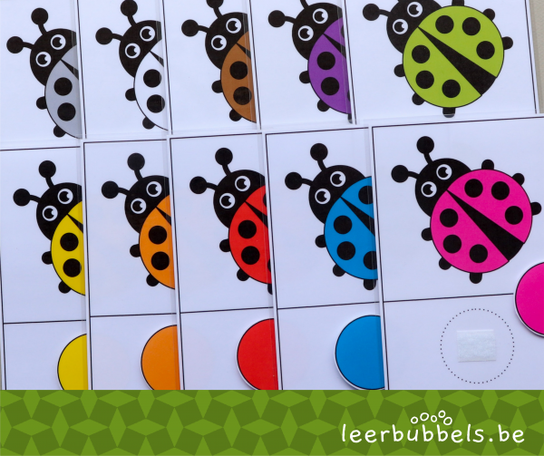 Kleuren matchen thema kriebelbeestjes
