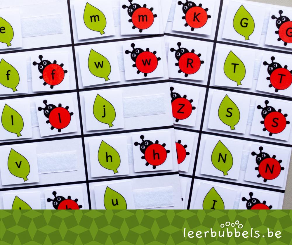 Letters matchen thema lieveheersbeestjes
