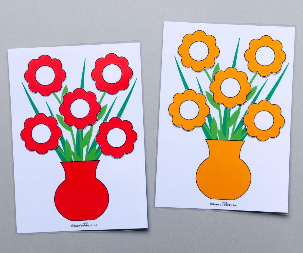 Telspel voor de jongste kleuters thema bloemen