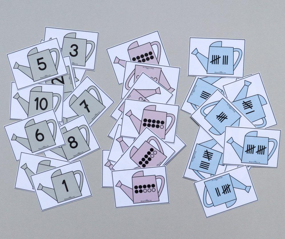 Getalbeeldenkaartjes tot 10 ijsbergrekenen ijsbrekers