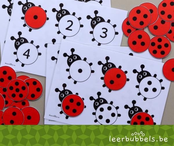 Telspel tot 6 thema lieveheersbeestjes