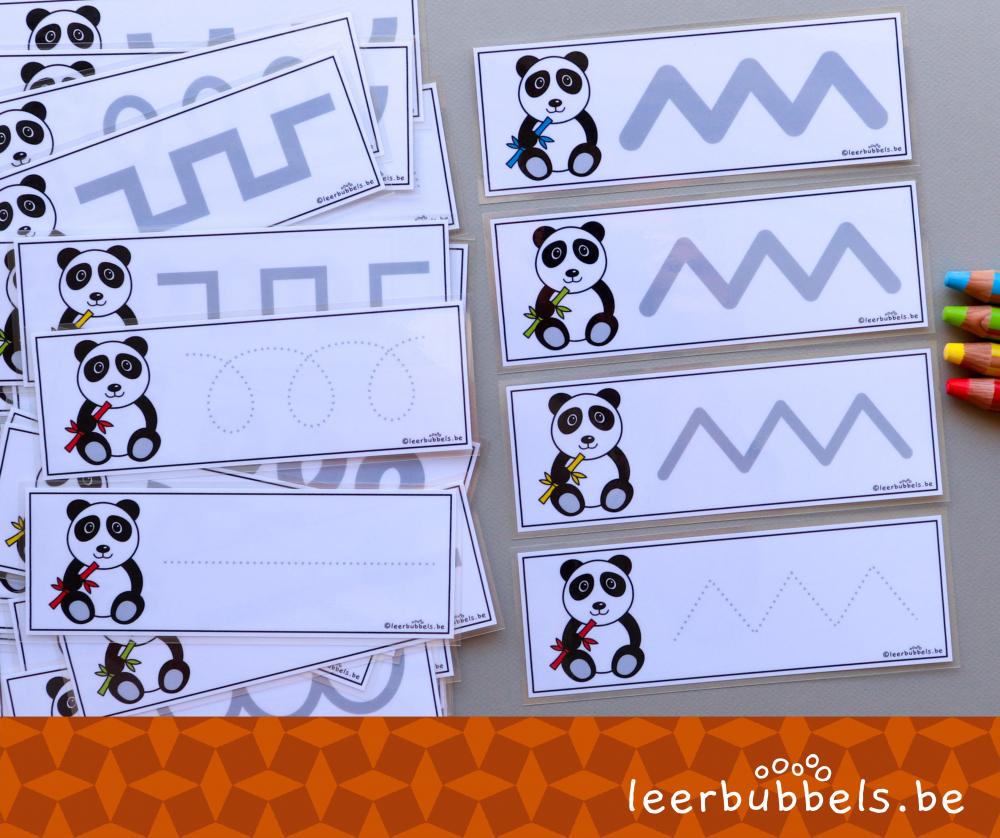 Schrijfkaarten thema pandaberen