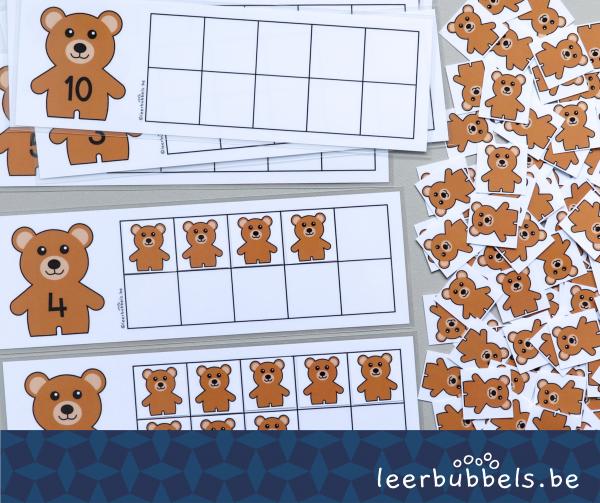 Telmatten tot 10 thema beren Leerbubbels