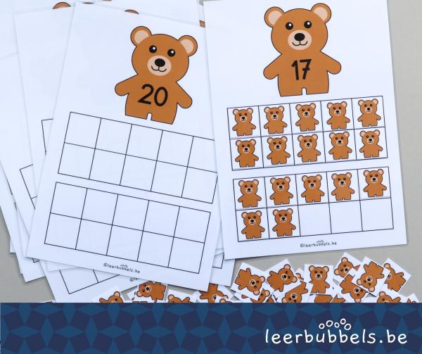 Telmatten tot 20 thema beren Leerbubbels