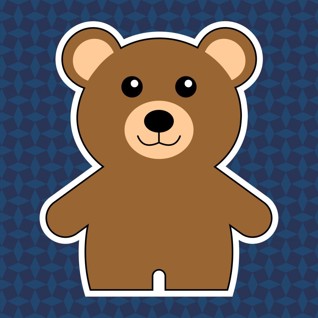 Thema beren van leerbubbels voor kleuters
