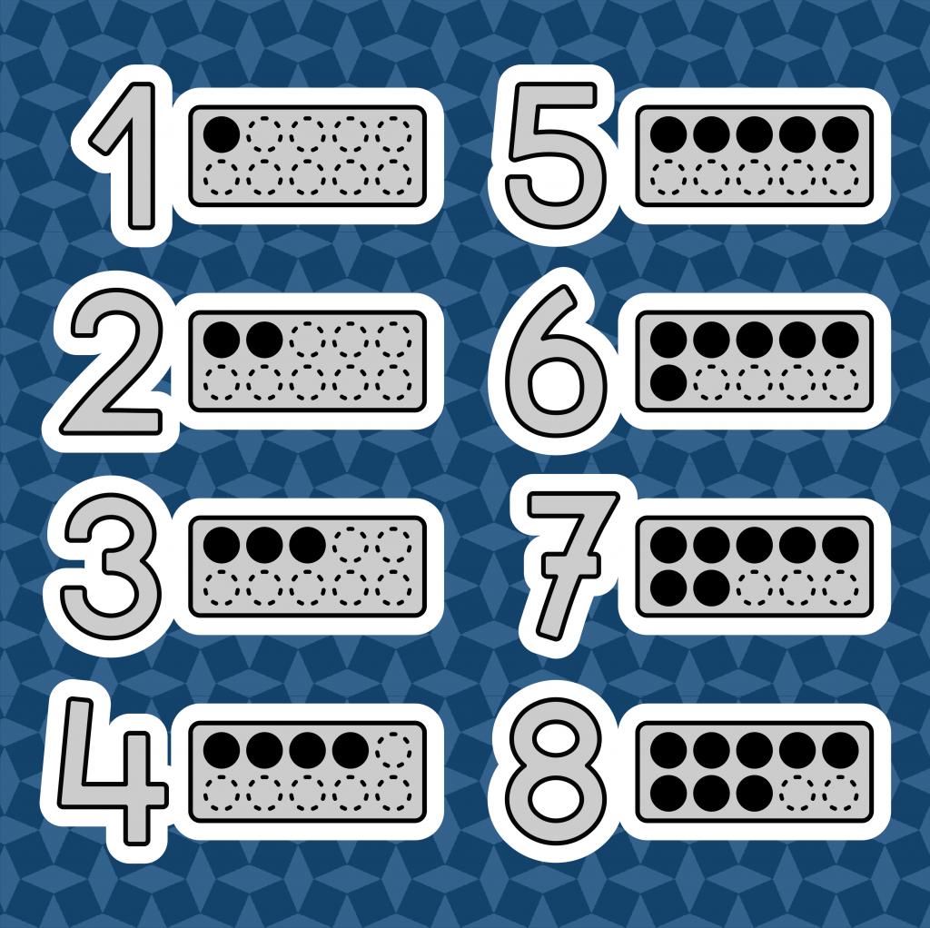 Knop cijfers aanleren in kleuterklas en speelleerklas